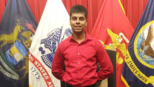 Raheel Siddiqui, 20, of Taylor, Mich., died during U.S. Marines boot camp training in South Carolina in March 2016. A Marine Corps jury found a drill instructor guilty Thursday, Nov. 9, 2017, of mistreating Siddiqui.