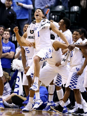 Devin Booker and the Kentucky Wildcats had their way with Kansas on Tuesday night.