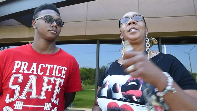 Early Career Academy senior Tyler Cole, 18 and mother Telisa Cole-McCorkle, of Detroit, found out ITT was closing August 30 and have been trying to get Tyler's transcripts sent to a new school.