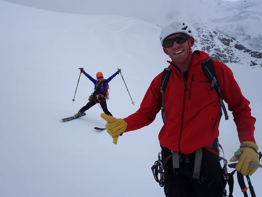 Mountaineers Jim Morrison of Truckee, Calif., and Emily