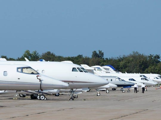 """Wonders of Wildlife's grand opening drew VIPs to Springfield, creating a """"jet jam"""" at the airport."""