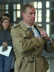 Assistant U.S. Attorney Ferris Wharton walks into the New Castle County Courthouse before the sentencing of Thomas Capano, Thursday, March 2. 2006.