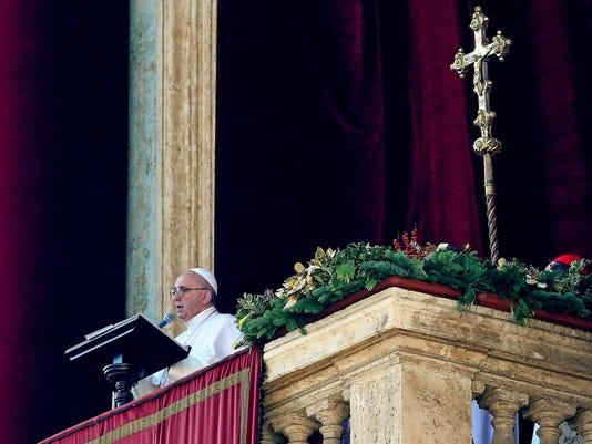 EPA VATICAN RELIGION POPE URBI ET ORBI REL CHURCHES (ORGANISATIONS) VAT