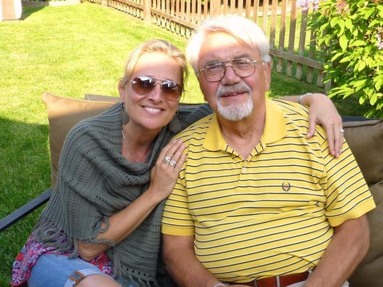 Chris Prange-Morgan and her dad, Randy Prange, on Father's Day 2013.