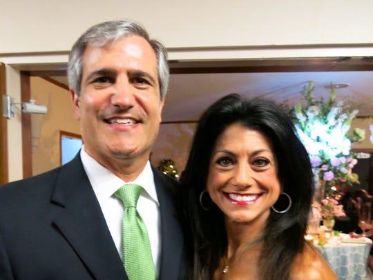 Barry and Teri Busada at the Crews-Brando wedding reception.