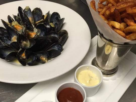 Mussels and fries from The Perfect Caper in Punta Gorda.