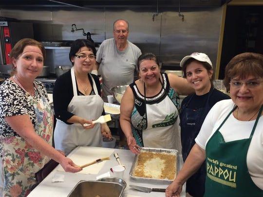 Baklava prep is underway for the Flemington Opa! Greek