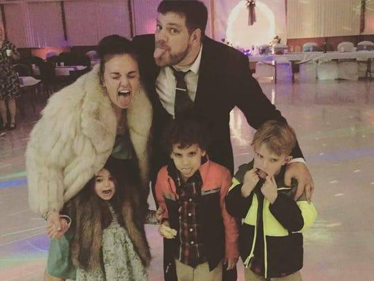 Rachel Collingwood, Corey Kuhr, Ophelia, Jonah, and Logan