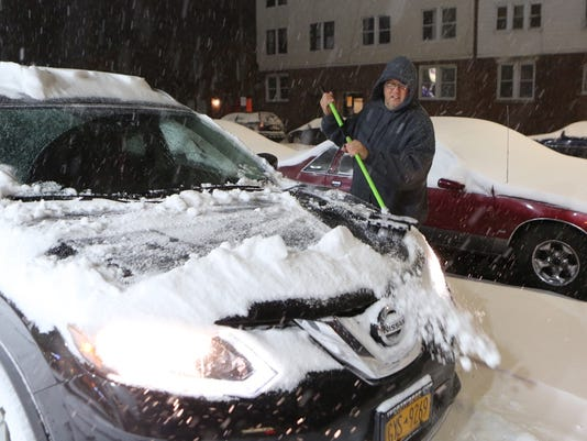 Rich Kane in snowstorm