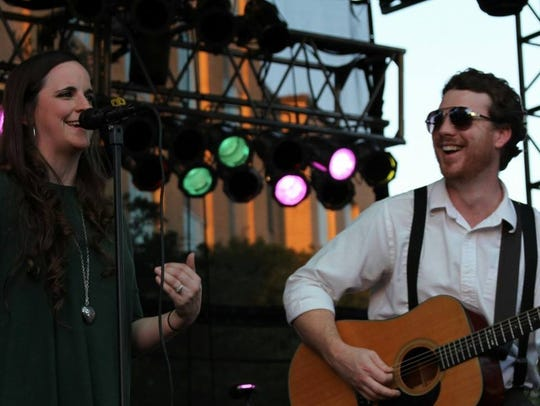 Jordan and Stacey playing live