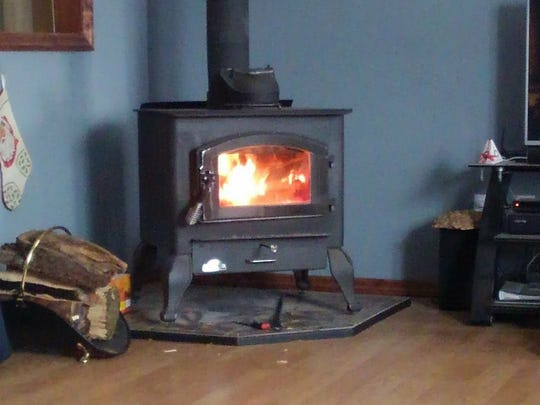 The Bradways were out in the snow, but warming up with the Wood Stove in Salem County.
