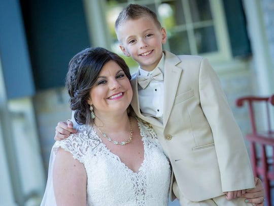 Kim and Ryan Baker's wedding day was special for Hayden,