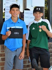 Peter Stassinopoulos of Novi (left) and Brayden Niemiec of Canton were the winner and runner-up respectively at Whispering Willows.