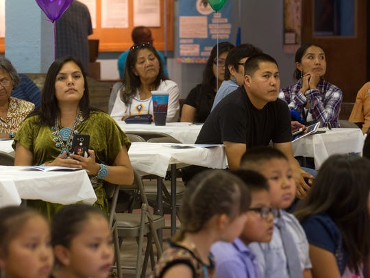 Friends and parents of students at Dream Diné Charter