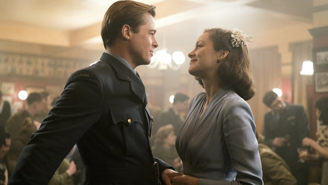 "Brad Pitt and Marion Cotillard star in ""Allied."""