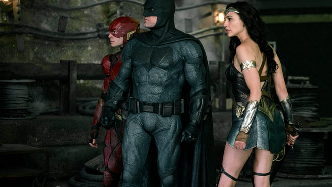 """Batman, The Flash and Wonder Women bring DC Comic superheros to life in the """"Justice League."""""""