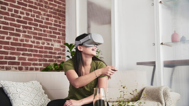 Oculus Go headset doesn't require tethering to a PC or phone.