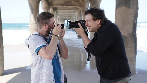 Photographer Pete Halvorsen and Jefferson Graham under