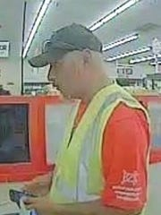 Socorro police say this man on June 17 robbed a Wells Fargo branch inside the Food King supermarket at 10720 North Loop Drive.
