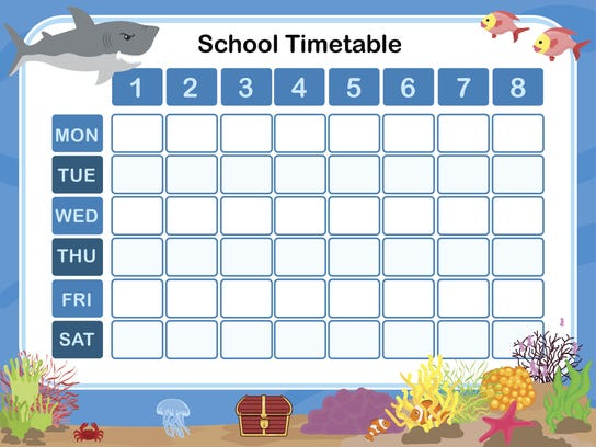 Timetable for school