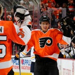 Brayden Schenn was one off the team lead in goals heading into Thursday night's game.