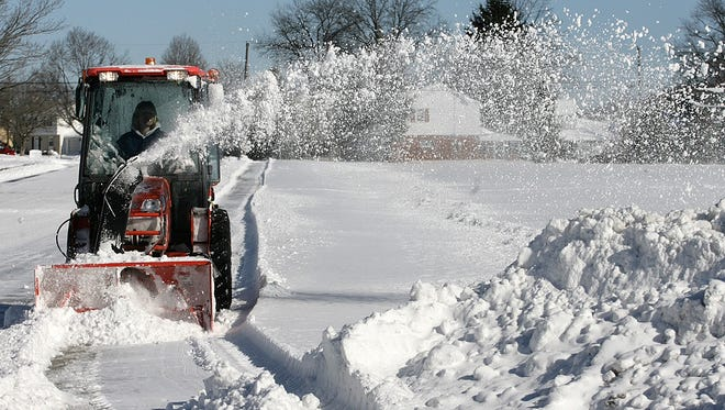 Digging out from a winter storm.