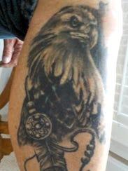 One of 70-year-old Bob Kotowski's tattoos.