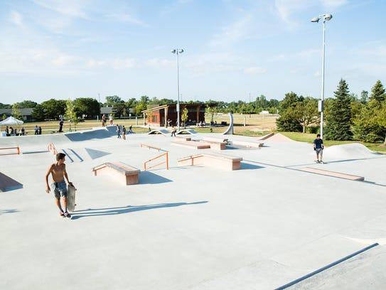 A skate park in Dublin, Ohio, designed by Spohn Ranch