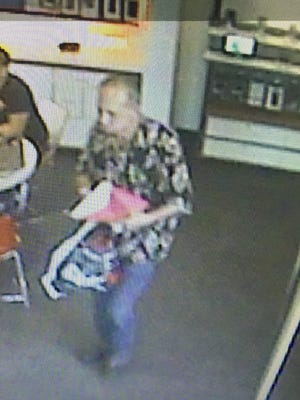Thousand Oaks police were asking for the public's help to identify a man suspected of theft.