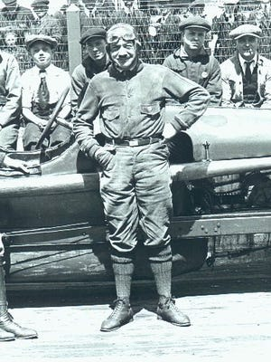Roscoe Sarles poses in September 1922 before the first race at Kansas City Speedway. Midway through that race, Sarles was killed in a crash.