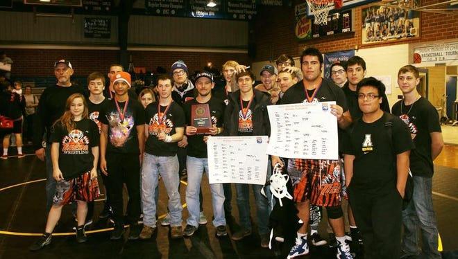 Rosman's wrestling team.