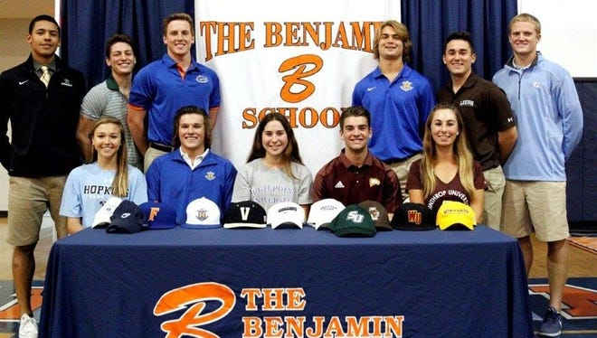 Eleven Benjamin School student-athletes have committed to colleges and universities.