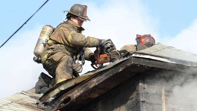 Detroit firehouse Ladder Company 22 had a chainshaw and a large K-14 saw stolen from their truck while they were battling a blaze on Sunday, Oct. 19, 2014. The saws cost about $2,000 a piece