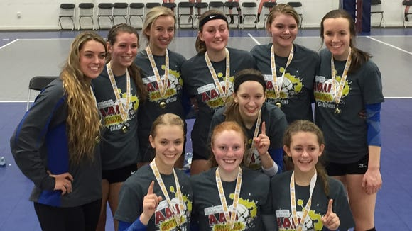 The Xcel Volleyball Performance 16X Select team.
