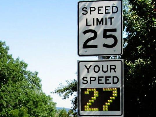 Radar Speed Limit Signs