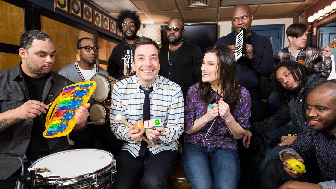 Jimmy Fallon Music Room Let It Go