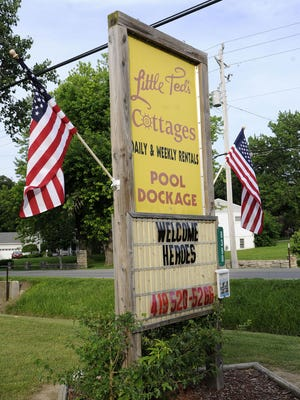 """All 76 participants in the """"Walleye for Wounded Heroes"""" are staying at Little Ted's Cottages on E. Northshore Boulevard in Danbury Township."""