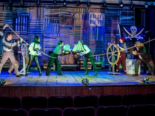 The cast of 'Peter and the Starcatcher' at Wilmington