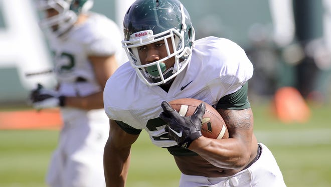MSU redshirt freshman running back Madre London is in the mix to be the Spartans' primary ball-carrier.