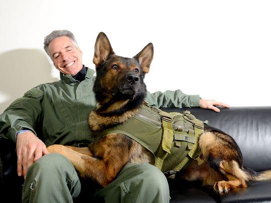 Ike, a highly trained K-9 unit member of the Bureau