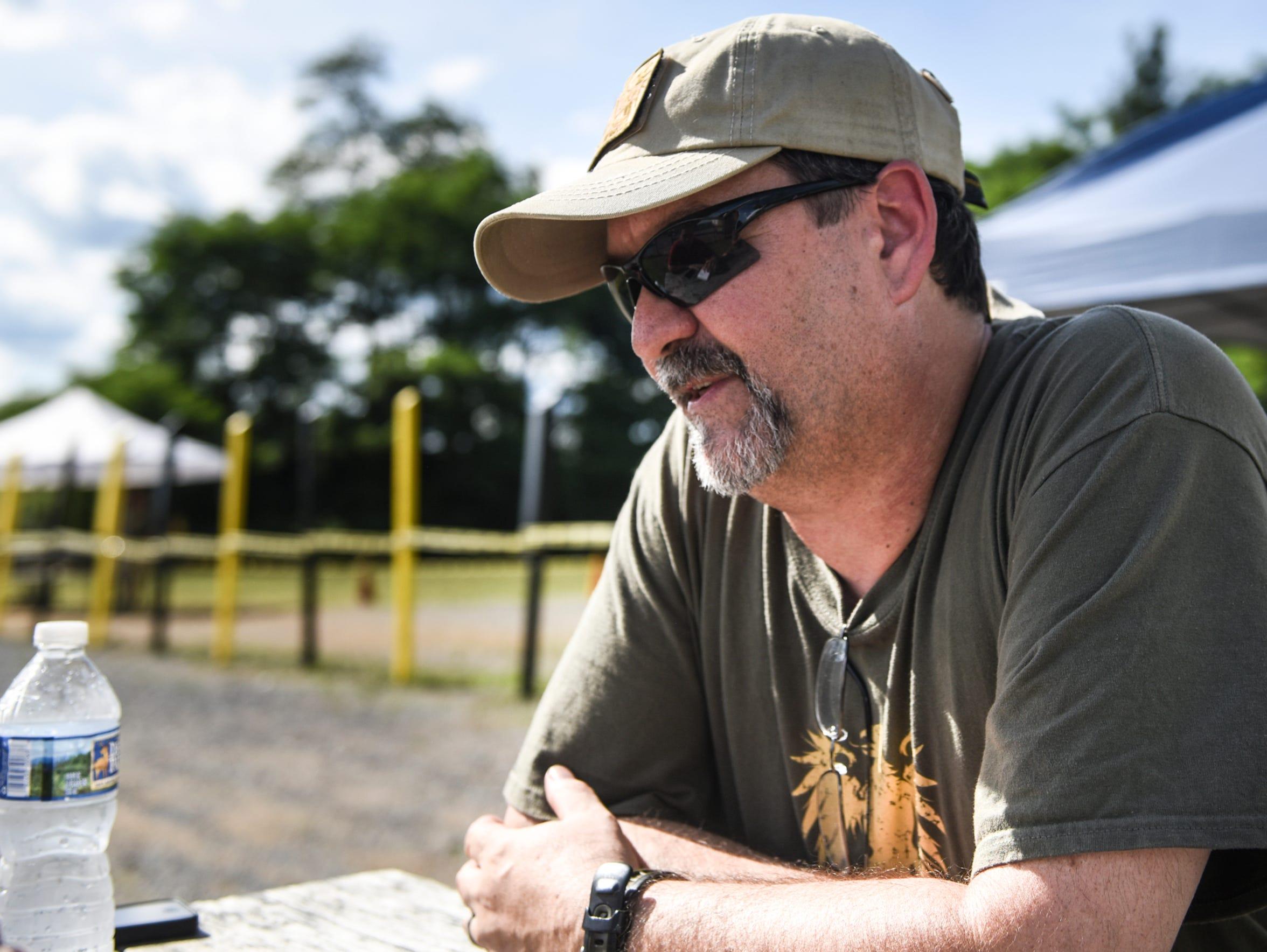 Art Kalbach, a salesman at Lanco Tactical in Elizabethtown,