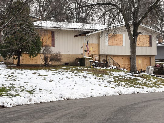 A home on Longview Drive in St. Cloud Saturday, Nov. 26, that was raided by police in November and has been condemned twice since July.