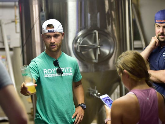 Philadelphia Eagles place kicker Jake Elliott visited Roy Pitz Brewing Company, North Third Street, Chambersburg, on Tuesday, June 19, 2018. Elliott won the 2018 Super Bowl with the Eagles.