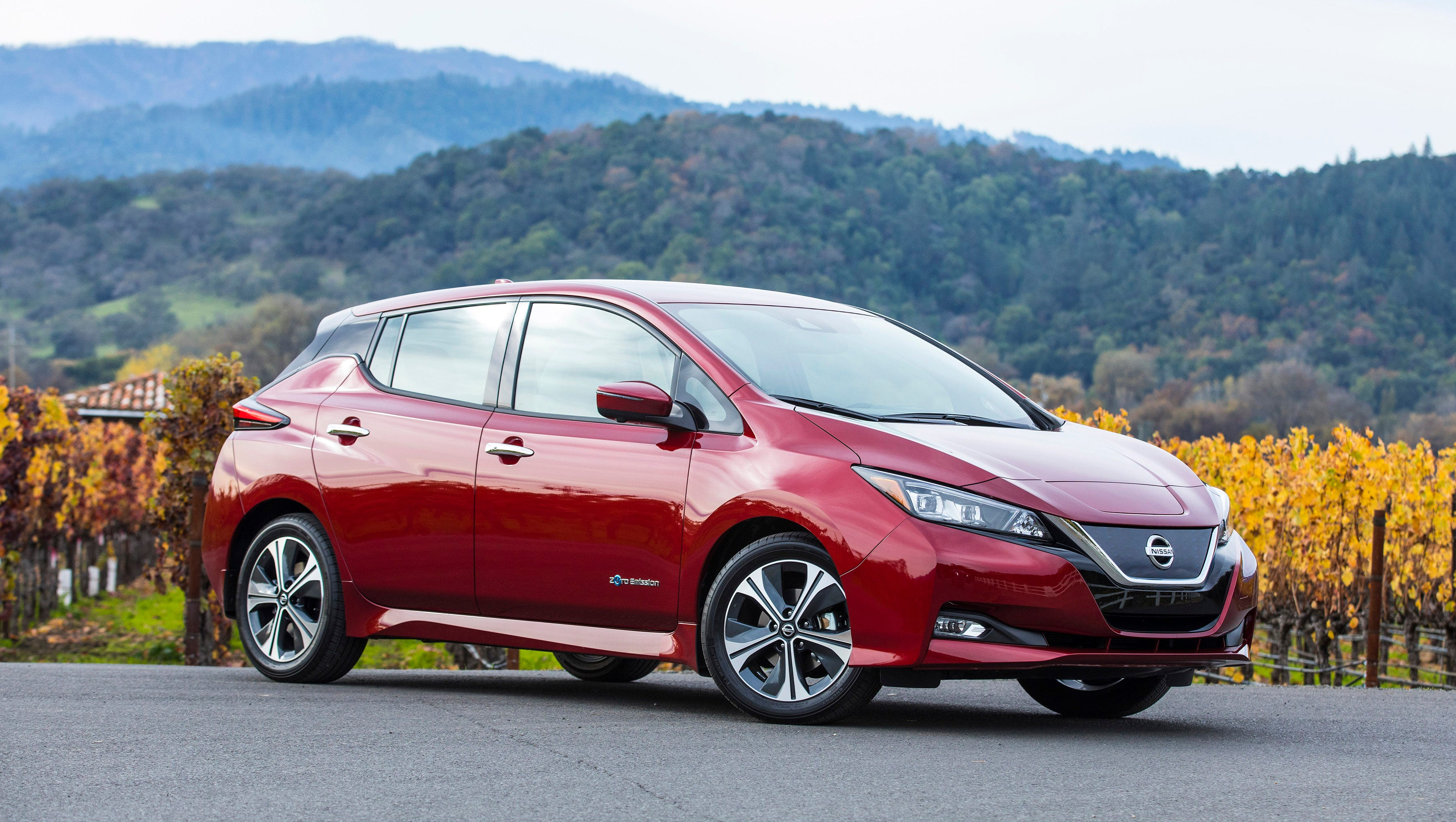 review  electric 2018 nissan leaf energized by value  range