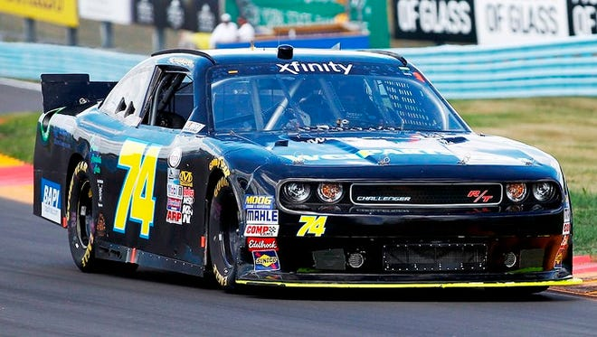 Elkhart Lake native Nicolas Hammann will race car #74 at the NASCAR Xfinity Race this weekend at Road America.