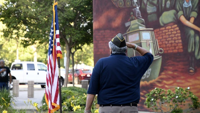 The annual Visalia Veterans Committee Flag Retirement Ceremony held at the Visalia Convention Center on Flag Day, Thursday, June 14, 2018.