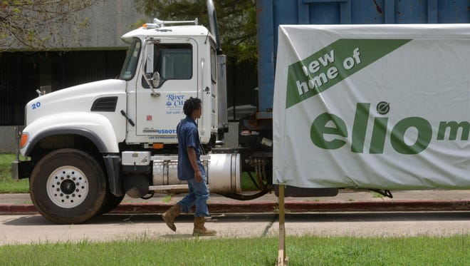 A delivery is made to Elio Motors located at the former GM plant on General Motors Blvd.