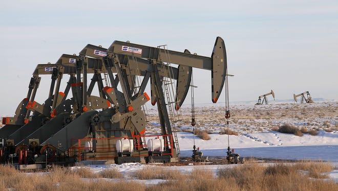 Oil wells on public land near Vernal, Utah.