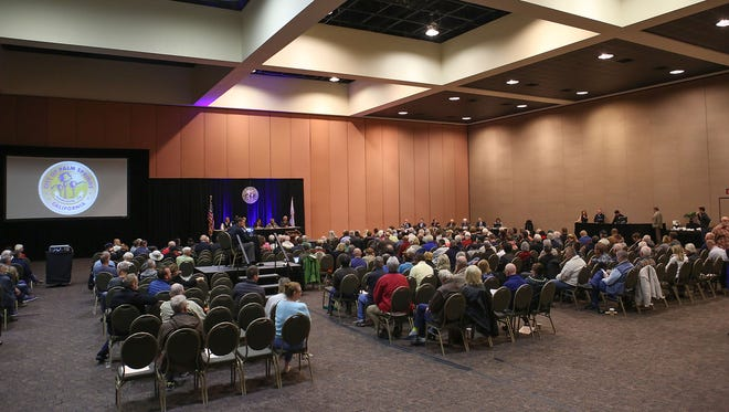 A large crowd attends a special study session by the Palm Springs City Council at the Convention Center in February 2017. A community forum is being held by the city at the convention center on Wednesday, Sept. 4.