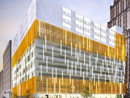 An $80,000 exterior improvement grant for architectural lighting on the Hotel Indigo in Memphis was approved Wednesday.